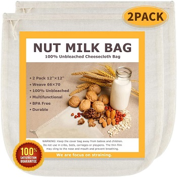 SCENGCLOS - Best Cheesecloth Nut Milk Bag